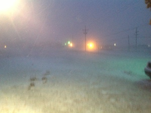 Near White Out Conditions across most of the South Plains--TxDOT highly discourages travel.