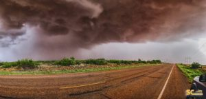 This photo courtesy of Steve Conway Photography.  An image of the storm looking east toward Sundown.