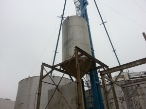"""One of Three New """"Elevator Legs"""" installed recently at Farmers Co-Op."""