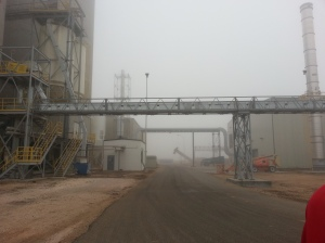 Large Conveyor System carries ethanol through to final stage processing.