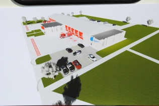 Architect Rendering of Proposed New Fire Station
