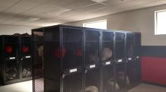 Updated locker room in field house