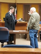 """J.L. """"Whitey"""" Barnett sworn in for another term as County Commissioner"""