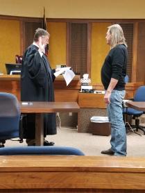 Larry Wood sworn in as JP Pct. 4