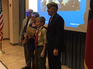 Friends of Scouting recognize Levelland Mayor Barbra Pinner with Distinguished Citizen 2017